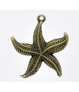 Charm estrella de mar bronce