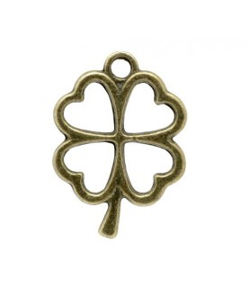 Comprar Charm trebol de 4 hojas bronce de Conideade