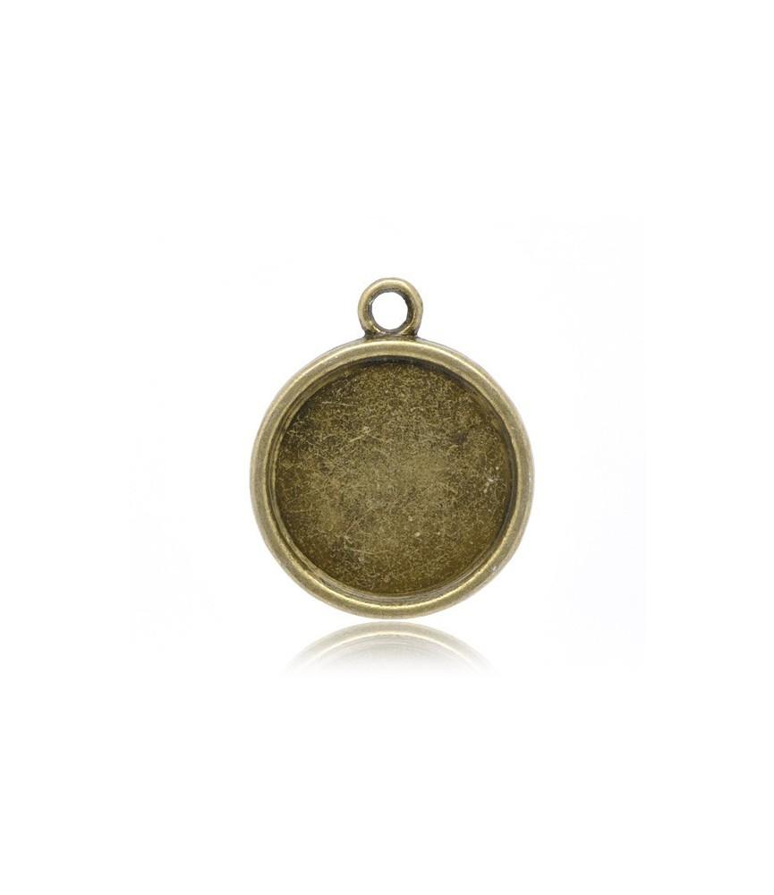 Base camafeo redondo bronce 20 mm