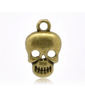 Charm calavera bronce