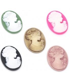 Comprar Pack 5 Cabuchones de resina mujer de Conideade