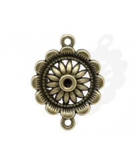 Conector flor bronce