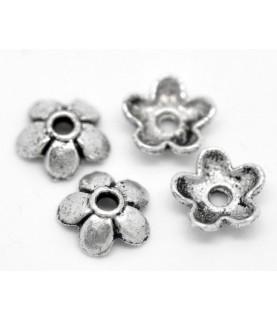 Comprar Pack de 20 casquillas de flor plateada 6,5 mm de Conideade