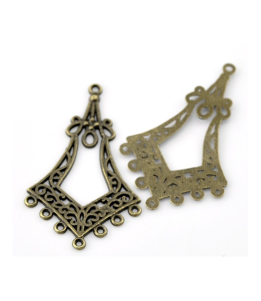 Conector 7 aretes bronce 44x27mm