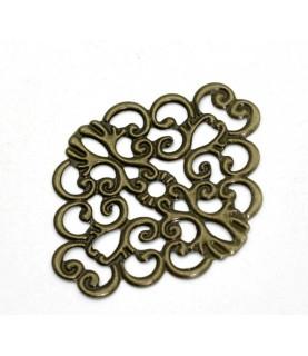 Conector bronce filigrana ovalado