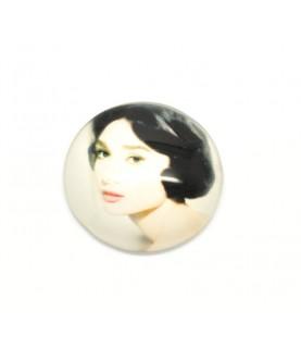 Cabuchon cristal Audrey Hepburn 30 mm