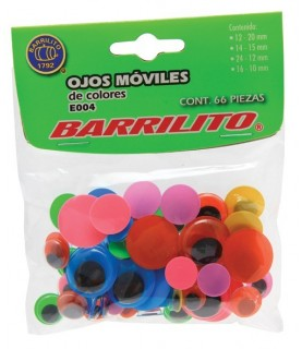 Pack 66 ojos móviles de colores surtidos