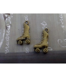Charm bronce patines 21x12mm