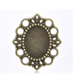 Comprar Base camafeo circulos bronce de Conideade
