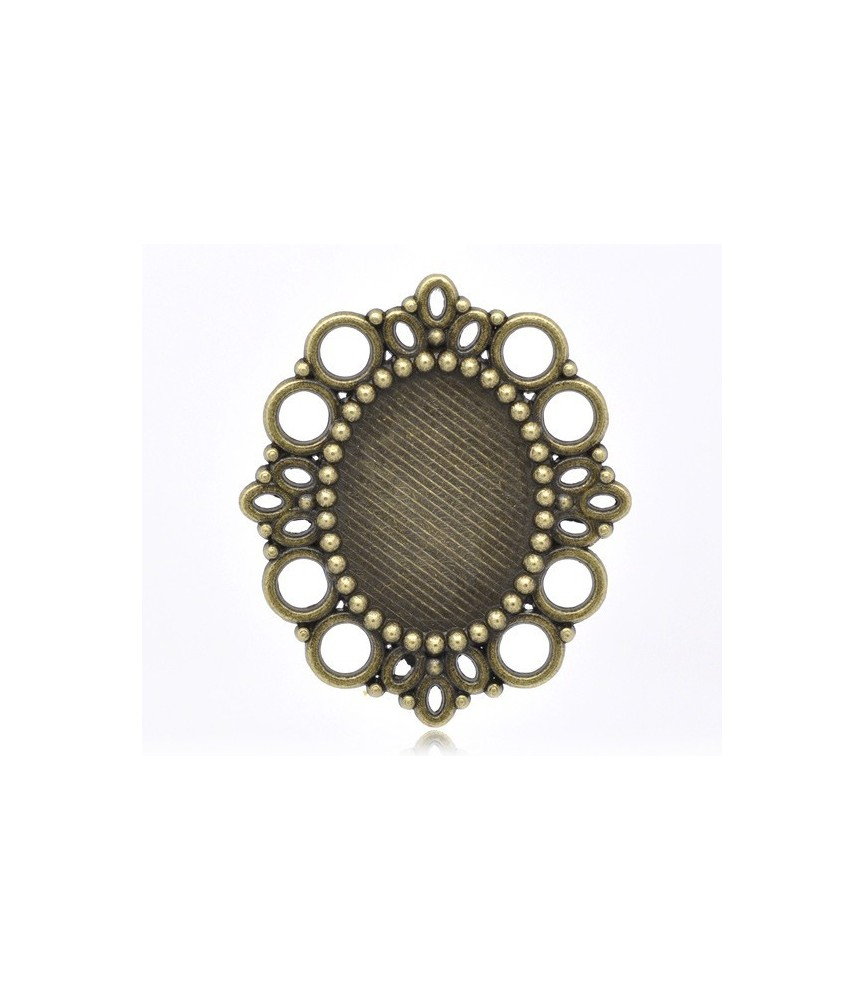 Base camafeo circulos bronce