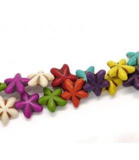 Comprar Pack 5 Cuentas de piedra flores 19x17 mm de Conideade