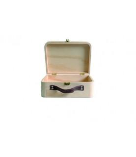 Imagén: Caja tipo maleta de madera