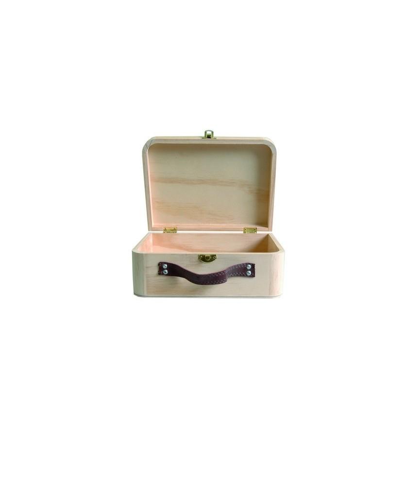 Caja tipo maleta de madera