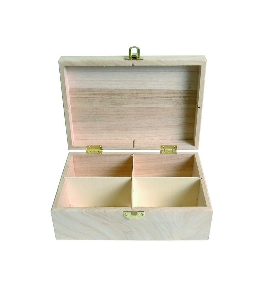 Caja para te de madera