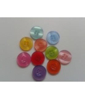 Imagén: Pack 10 botones redondos de 15 mm