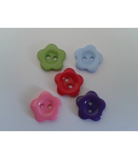 Imagén: Pack 5 botones con forma de flor 14 mm