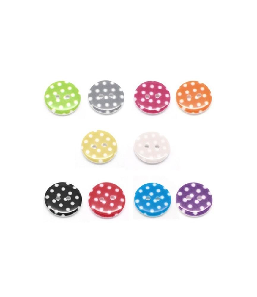 Pack10 botones de lunares