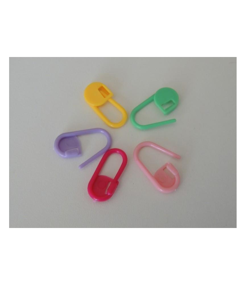Marcadores de vueltas en colores variados para crochet y punto