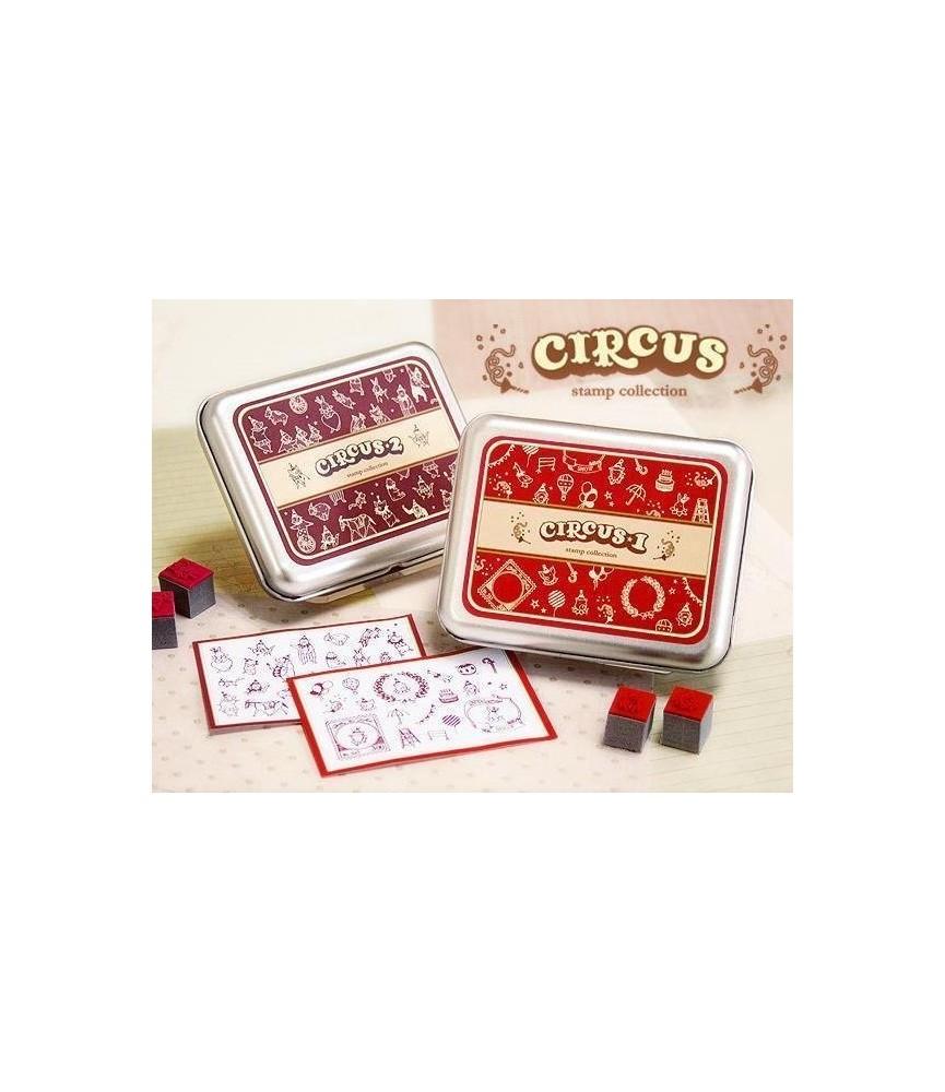 Caja 21 sellos del circo