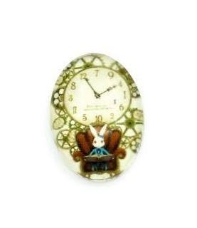 Comprar Cabuchon cristal reloj conejo 13x18mm de Conideade