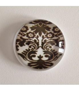 Cabuchon de cristal barroco 25mm