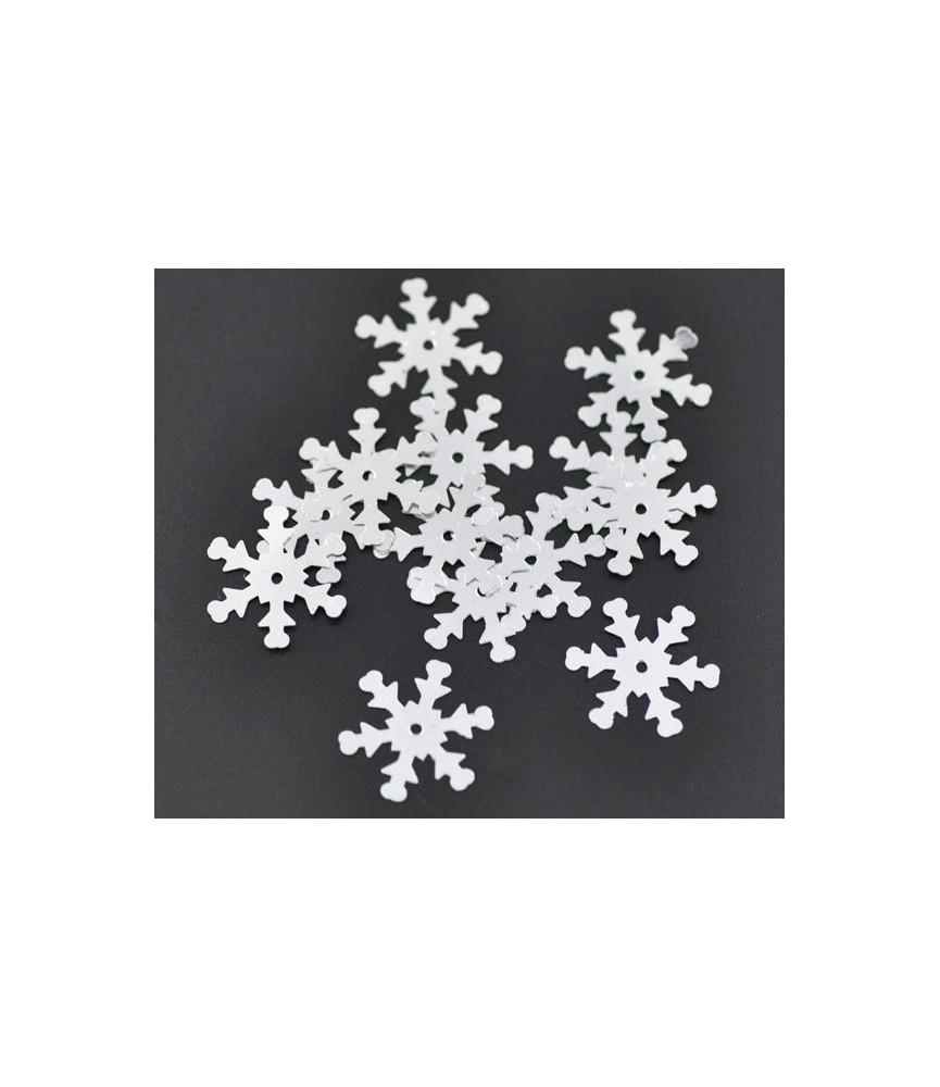 Bolsa 1000 lentejuelas copos de nieve