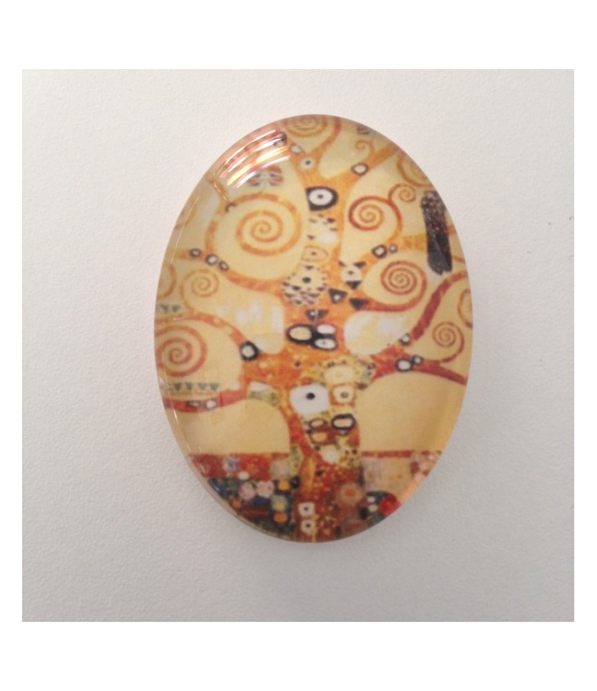 Cabuchon cristal arbol abstracto 30x40mm