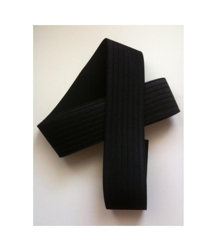 Goma de cinturón negra 6cm