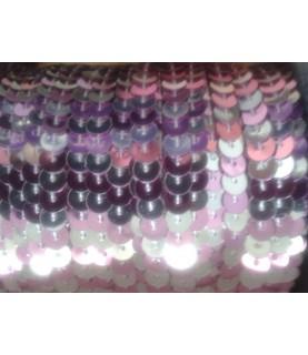 1 Metro de lentejuelas rosa/plata