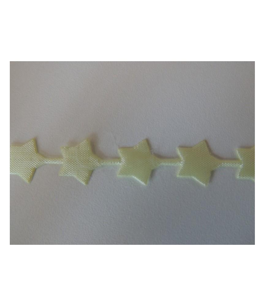 1 metro de cinta fantasía Estrellas amarilla