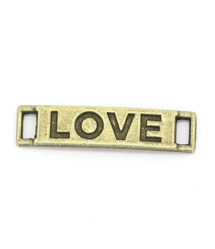 Conector chapa love bronce