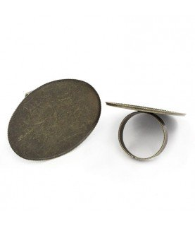 Comprar Anillo ajustable base ovalada 40x30mm de Conideade