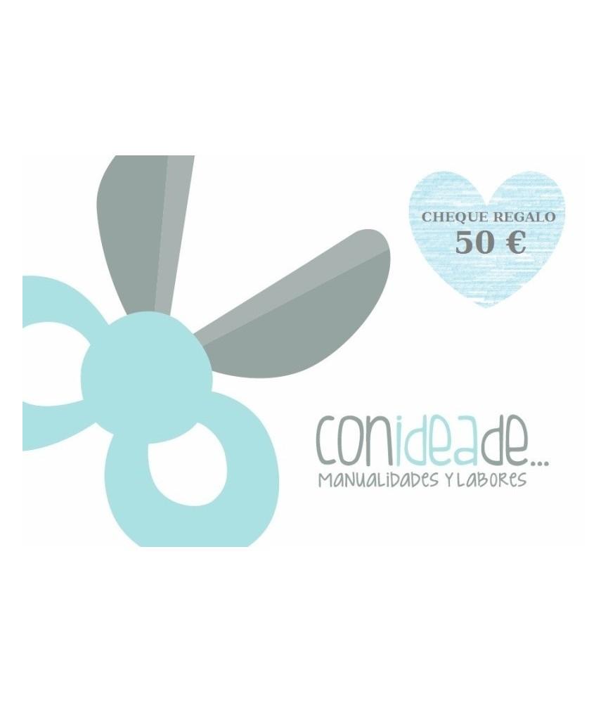 Cheque 50 € regalo en Material para Manualidades y Labores