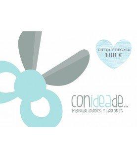 Comprar Cheque 100 € regalo en Material para Manualidades y Labores de Conideade