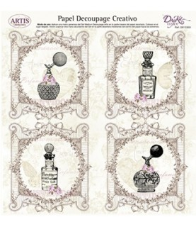 Papel decorativo para pegar mod perfume