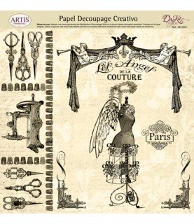 Comprar Papel decorativo para pegar mod alta costura de Conideade
