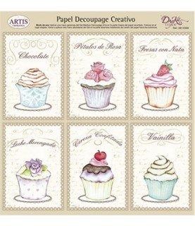 Comprar Papel decorativo para pegar mod cupcake de Conideade