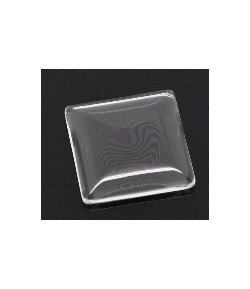Cabuchon cristal cuadrado 25x25