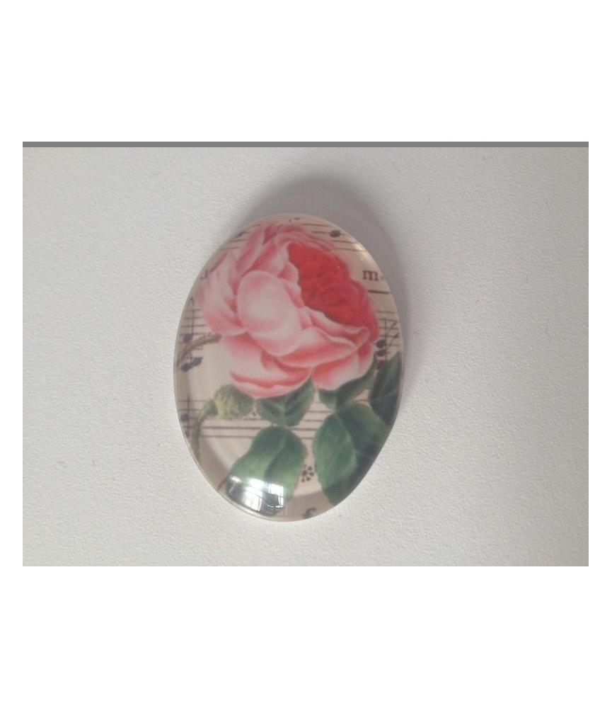 Cabuchon cristal rosa 40x30mm
