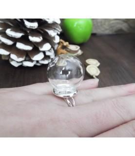 Comprar Set anillo con esfera de cristal 12 mm de Conideade