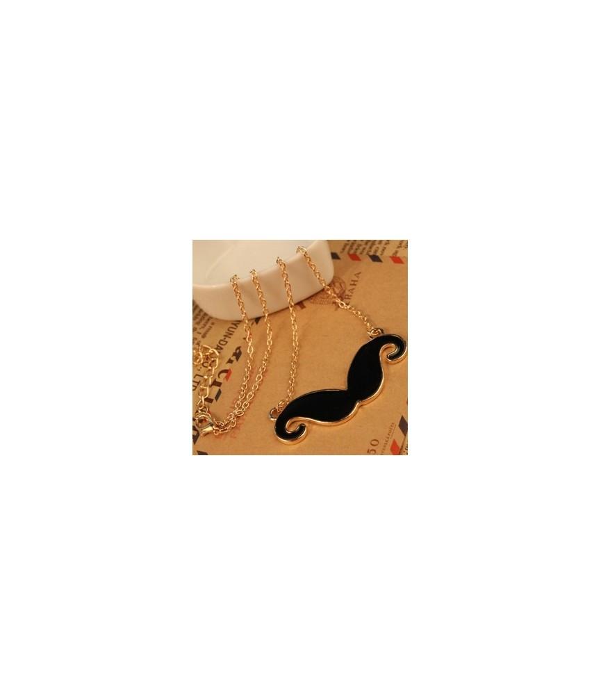 Colgante con cadena bigote