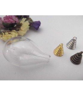 Comprar Set Colgante esfera de cristal lagrima de Conideade