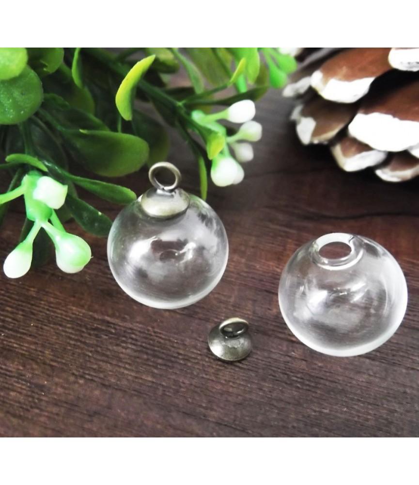 Set colgante esfera de cristal 20 mm