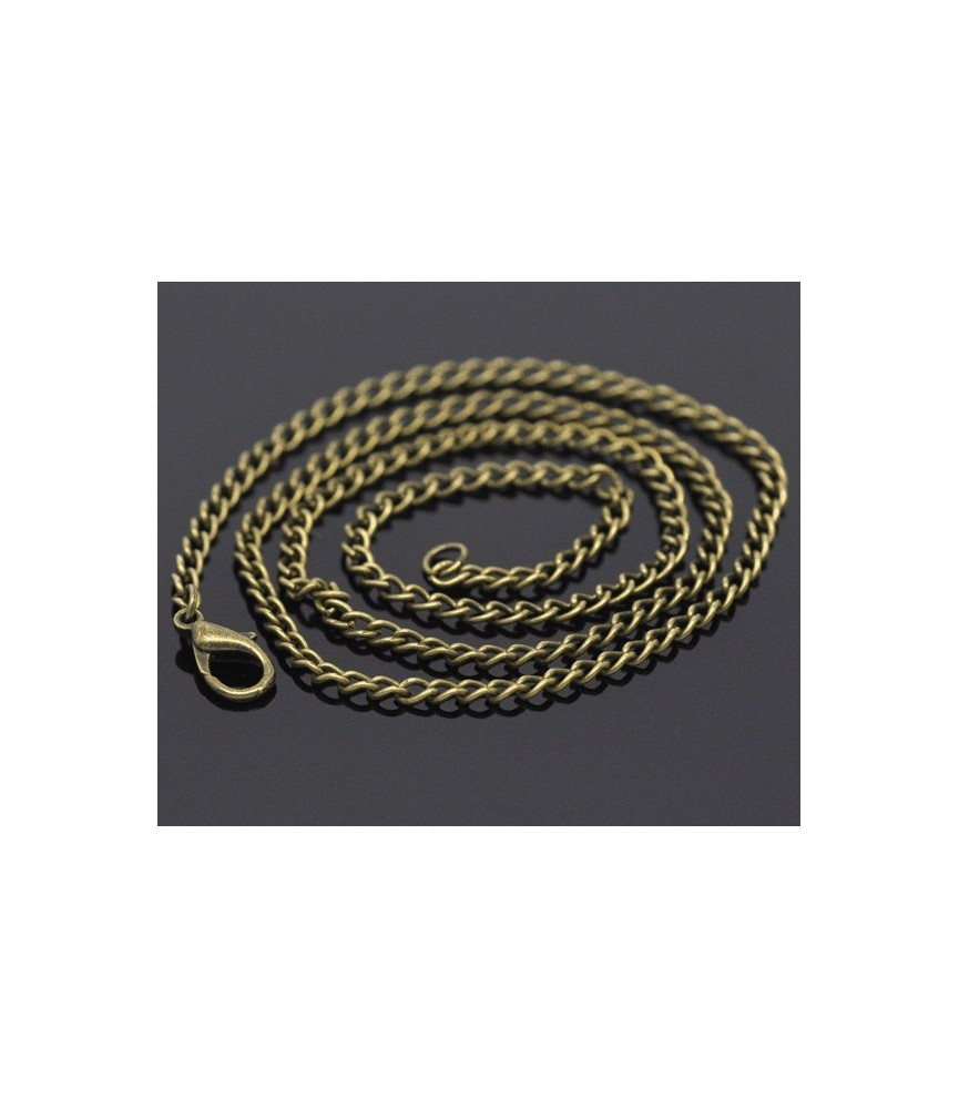 Cadena de 51 cm eslabon curvado bronce