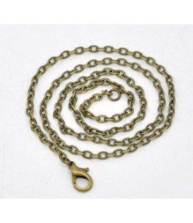 Comprar Cadena de 50,8 cm eslabon plano bronce de Conideade