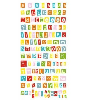Autoadhesivos abecedario moderno