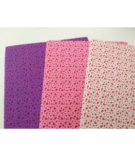 Pack 3 laminas Goma eva estampada de corazones A4