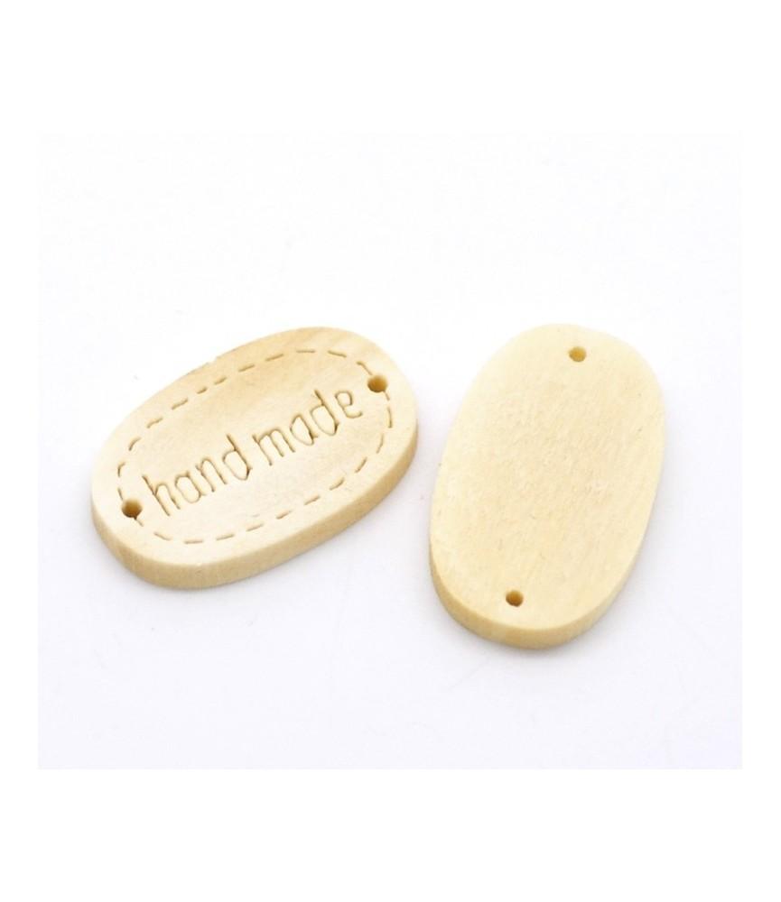 Boton de madera hand made 19x12mm