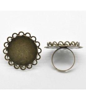 Comprar Anillo ajustable bronce con filigrana base de 25 mm de Conideade