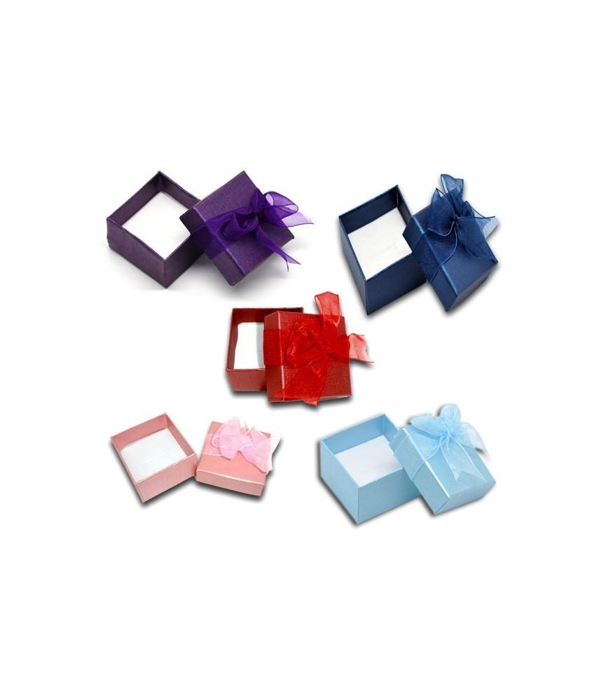 Caja para anillos cuadrada 5 colores